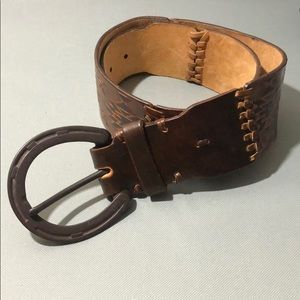 Ralph Lauren Collection Hand Tooled Leather Belt